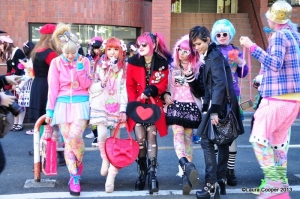 People posing for a pic in Harajuku