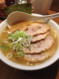 Ramen in a pork and miso broth
