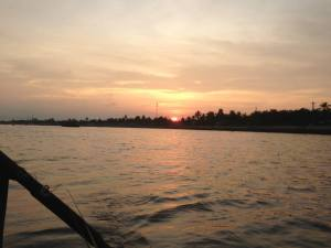 Sunrise over the Mekong Delta